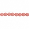 Czech Glass Beads 8In Strand 4mm (45pcs) Vintage Pink